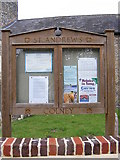 TG1807 : St.Andrews Church Notice Board, Colney by Adrian Cable
