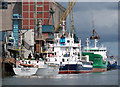 J3576 : Ships at Belfast docks by Rossographer