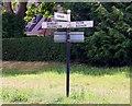 SP4635 : Signpost on Milton Road by Steve Daniels