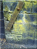 SU1585 : Benchmark on Whitehouse Road wall by Roger Templeman