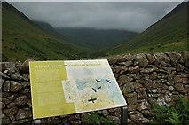 NT1611 : Information board and Carrifran Glen by Jim Barton