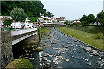 SS7249 : The river confluence at Lynmouth by Graham Horn