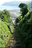 SS7249 : Lynton and Lynmouth cliff railway by Graham Horn