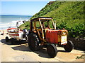 TG2042 : Fisherman's tractor, East Runton by Chris Holifield