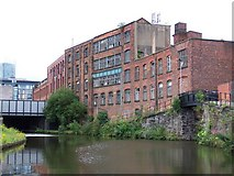 SJ8297 : Bridgewater canal and derelict buildings by David Martin
