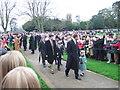 TF6928 : Royals on Church Walk, Sandringham on Christmas Day 2006 by Richard Humphrey