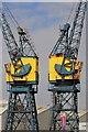 NZ5234 : Pair of Travelling Cranes by Mick Garratt