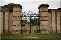 SK8932 : Kitchen garden gates by Richard Croft