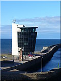 NJ9505 : Harbour Operations Centre and North Breakwater by Colin Smith