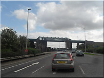 SJ7293 : Bridge over The Manchester Ship Canal by Anthony Parkes