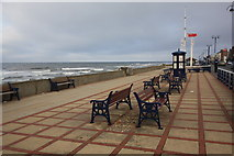 NZ6025 : Sea and promenade at Redcar by Philip Barker