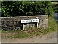 J1657 : Sign at Tullyard by Dean Molyneaux