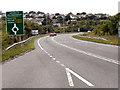 SW7633 : A39 Towards Kernick Roundabout by David Dixon