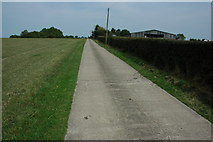 SO9662 : Driveway to Park Farm by Philip Halling