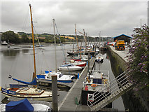 SW7834 : Penryn Harbour by David Dixon