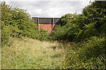 SK7528 : Old bridge on dismantled railway line by Kate Jewell