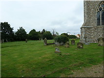 TM4160 : St Mary Magdalene , Friston: ivy clad tomb by Basher Eyre