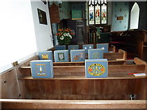 TM4160 : St Mary Magdalene, Friston: kneelers and pews by Basher Eyre