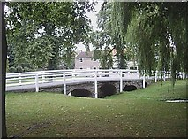 NZ2308 : Footbridge in Marygate, Barton by Stanley Howe