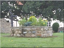 NZ2413 : Water pump on village green, Cleasby by Stanley Howe