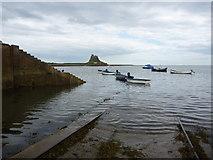 NU1341 : Slip-Sliding Away At Holy Island (Lindisfarne) Northumberland by Richard West