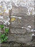 ST9929 : Bench Mark, St Georges Church, Fovant by Maigheach-gheal