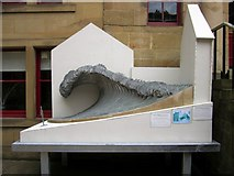 NZ2564 : Artist's model for Collingwood Wave sculpture, Trinity House Yard, Broad Chare by Andrew Curtis