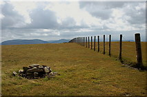 NT1513 : Carrifran Gans summit and boundary fence by Jim Barton