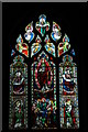 SP0548 : Stained glass window, Harvington Church by Philip Halling