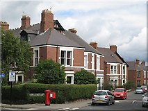 NZ2567 : Stoneyhurst Road / Balmoral Terrace, Gosforth, NE3 by Mike Quinn