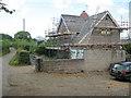 SO3319 : House renovation near Pen-y-parc by Trevor Rickard