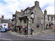 SY9682 : Bankes Arms, Corfe Castle by David Dixon