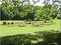 SE3238 : Flower beds - Roundhay Park by Betty Longbottom