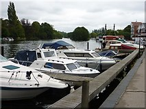 SU7682 : Moored Boats and Steamer, Henley-on-Thames by Ivan Hall