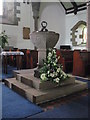 NY7064 : The Church of the Holy Cross, Haltwhistle - font by Mike Quinn