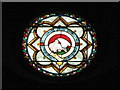 NY7064 : The Church of the Holy Cross, Haltwhistle - stained glass window, nave by Mike Quinn