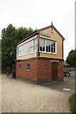 SK1461 : Hartington signal box by Richard Croft
