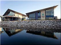 SY6874 : Marina Office, Portland Marina, Dorset by Christine Matthews