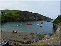 SW9980 : Port Isaac harbour from the village by Richard Law