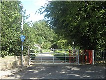 SK3538 : Old Lane entrance to Nutwood Local Nature Reserve and Wood, Darley Abbey, Derby by Eamon Curry