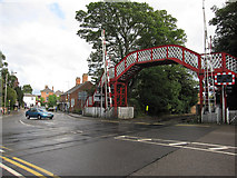 SK8508 : Level crossing by Oakham Station by Hugh Venables
