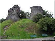 SN7634 : Ruins of Llandovery Castle by John Lord