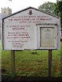 TM4362 : St.Margaret Church Notice Board by Adrian Cable