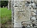 TM2654 : Bench Mark on Dallinghoo church by Adrian S Pye