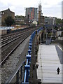 TQ3681 : Railway tracks from Limehouse DLR Station E14 by Robin Sones