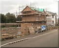 ST4286 : House construction, West End, Magor by Jaggery