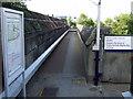 NS5364 : Footbridge at Cardonald railway station by Thomas Nugent