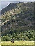 NY3916 : Cutting grass, Patterdale by Derek Harper