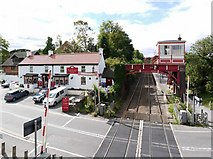 NZ1164 : The Boathouse pub & Wylam Signal Box by Andrew Curtis