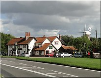 TM1678 : The Horseshoes Inn and Billingford mill by Adrian S Pye
